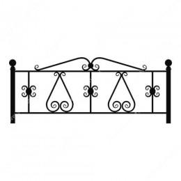 Кованая ограда на могилу— 006