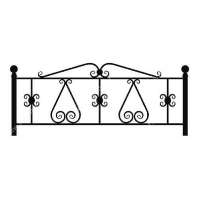Кованая ограда на могилу — 006