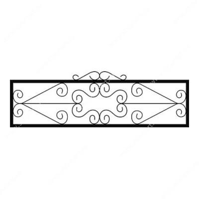 Кованая ограда на могилу — 010