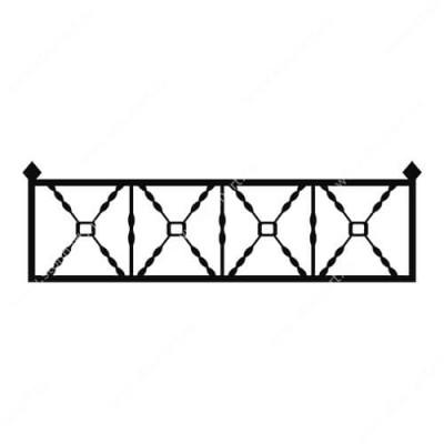 Кованая ограда на могилу — 015