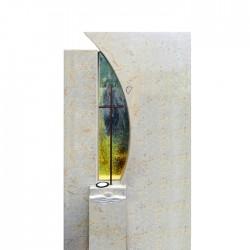 Памятник со стеклом СП — 004