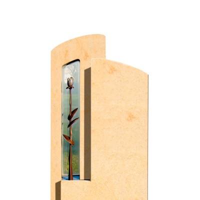 Памятник со стеклом СП — 007