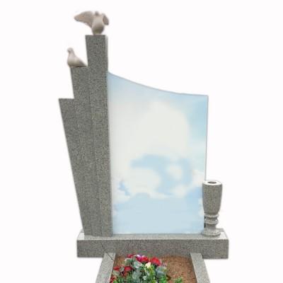 Памятник со стеклом СП — 011