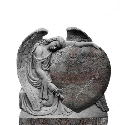 Скульптура ангела на могилу — 003