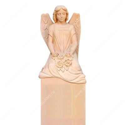 Скульптура ангела на могилу — 006