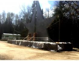 Строительство мемориального комплекса Ю.А.Гагарина